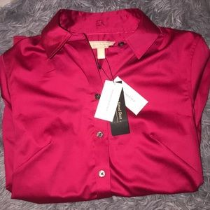 NWT Banana Republic Non-Iron Fitted Button-Down